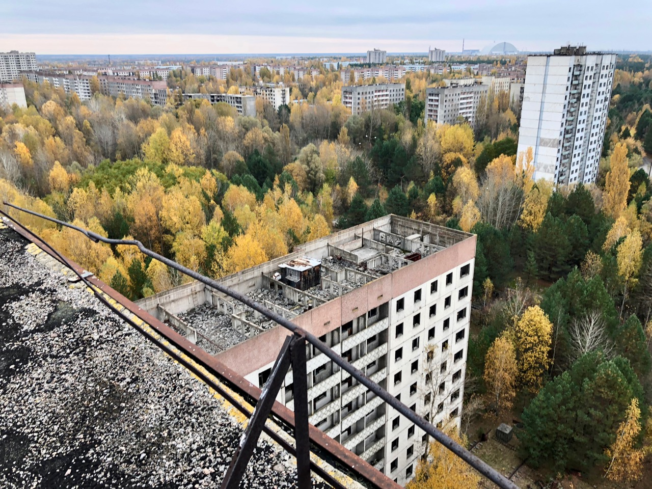 On top of 16 story apartment block