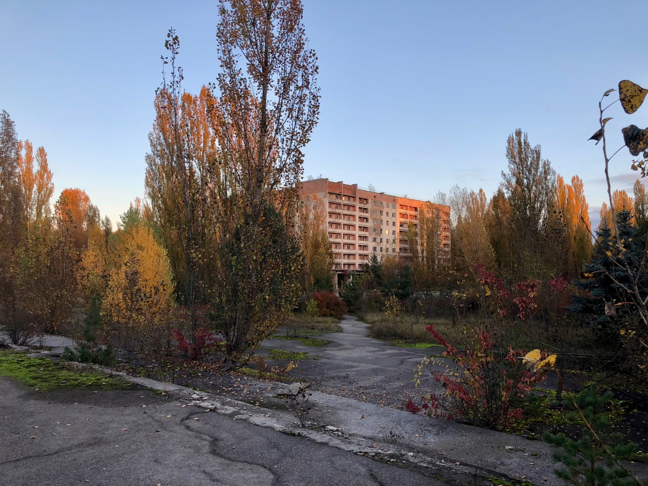 Main square of Pripyat, the ghost city